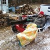 Life in Andover: Splitting Wood