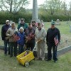 Post #101, Cemetery Trustees Place Flags for Memorial Day