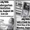 AE/MS Starts New School Year on August 29!