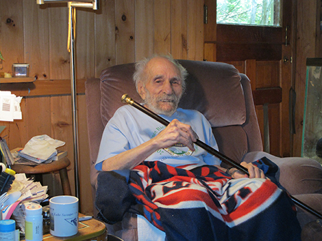 Tony Caruso Receives Wilmot's Boston Post Cane