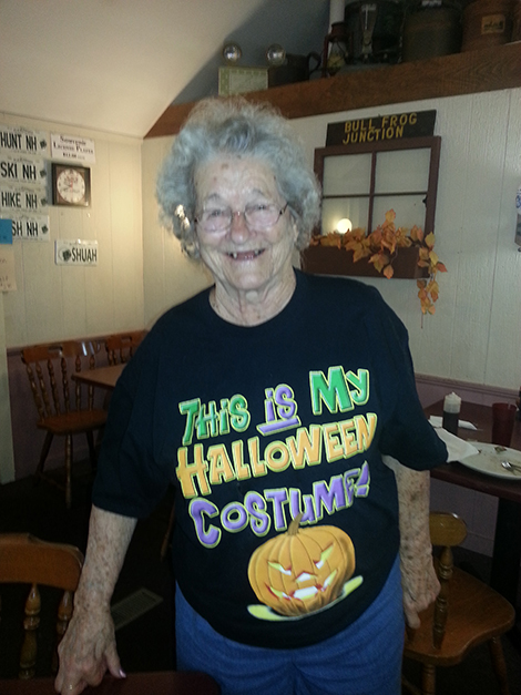 Mary Demers on Halloween