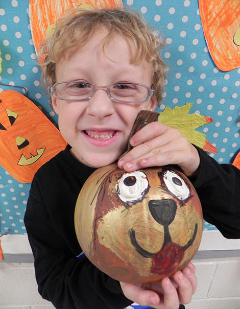 AE/MS First Graders Paint Pumpkins