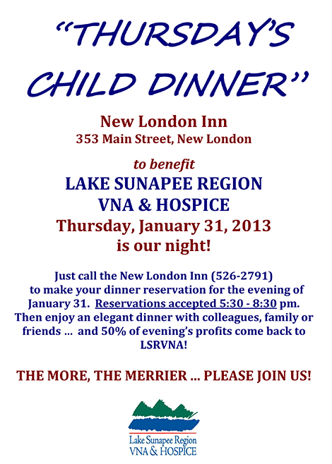 Support LSRVNA With Dinner At New London Inn