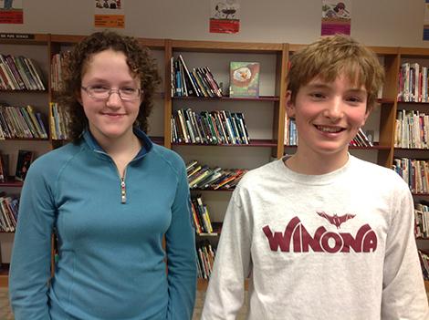 Annika Johnson, Luke Weber Win AE/MS Spelling Bee