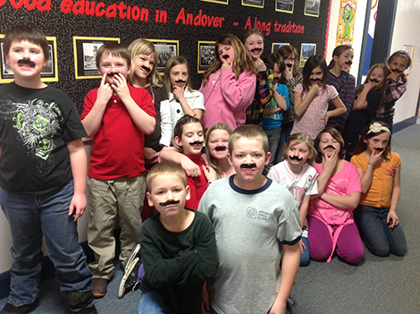 AE/MS Brings Fake Mustaches On Valentine's Day