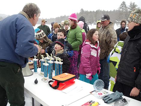 Dozens of Kids Enjoy AF&G Ice Fishing Derby