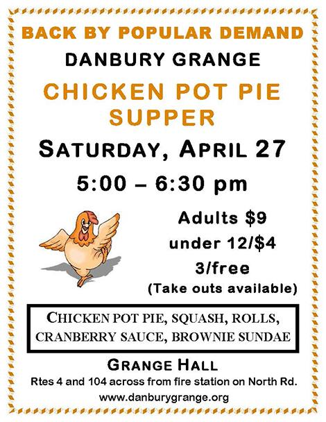 Chicken Pot Pie Supper at the Danbury Grange