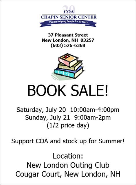 COA Holds Book Sale Fundraiser