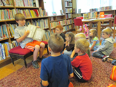 Special Guests Read at Bachelder Library Story Time