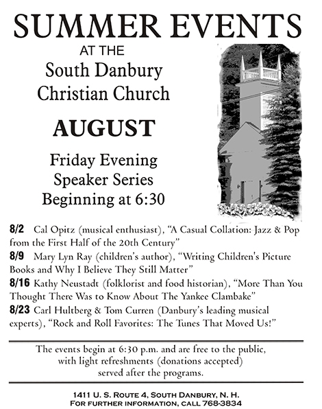 Free Summer Speakers Continue at South Danbury Christian Church