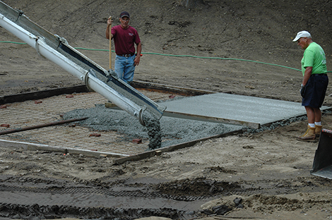 Performance Pad Poured at AE/MS Amphitheater