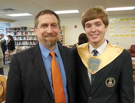 Trenton Bonk in National Honor Society at Bishop Brady
