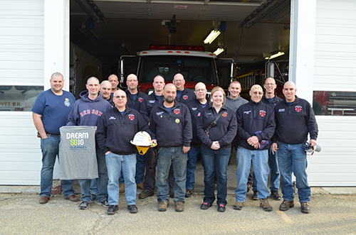 """Andover Fire Department Awarded St Baldrick's """"Brave to Shave"""" Award"""