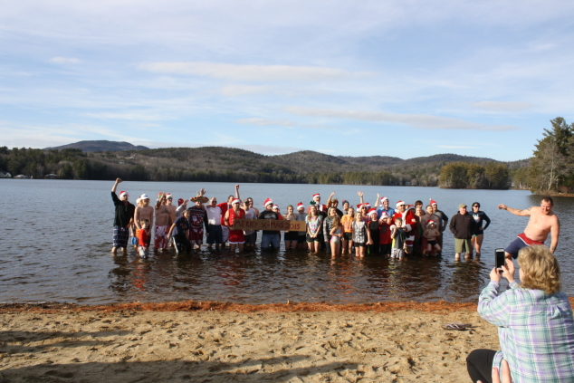 A Christmas Day Dip in Highland Lake