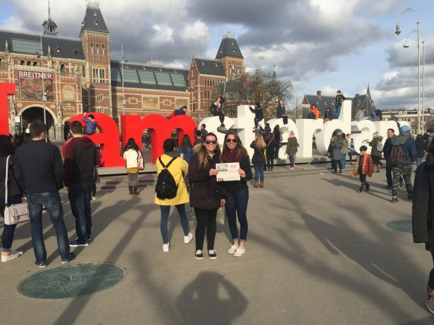 Around the World with the Beacon: Marissa and Emily Laro in Amsterdam