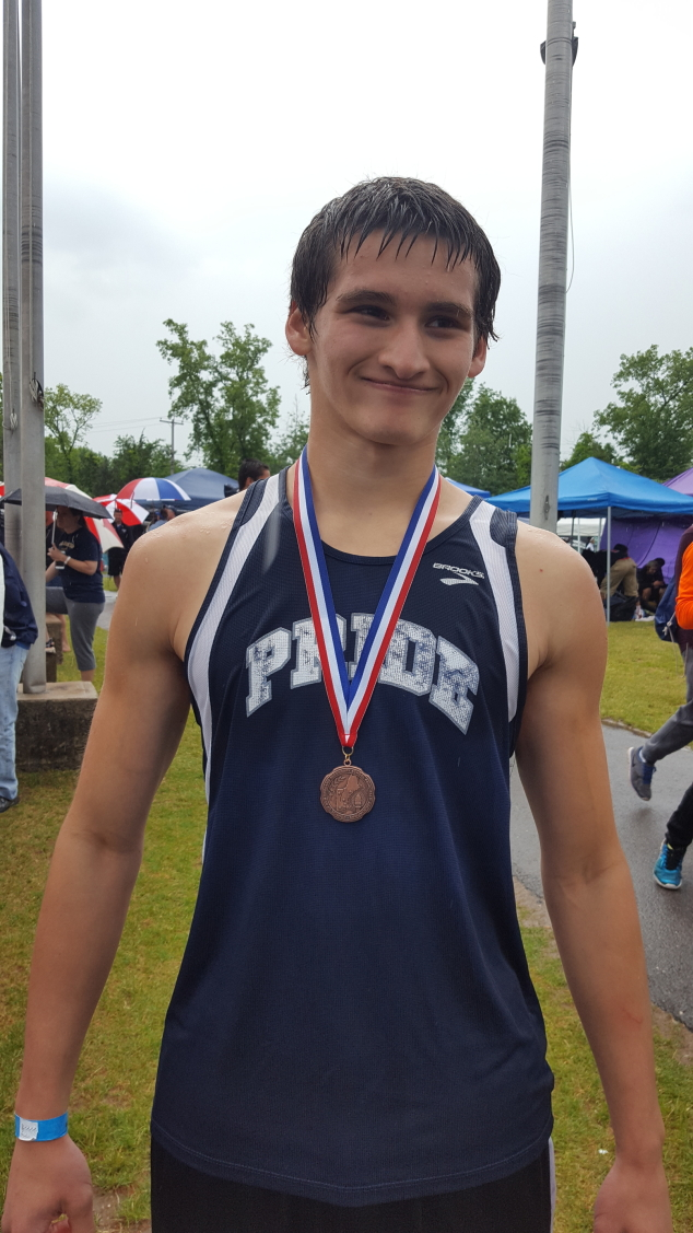 Brandon Wood Wins Bronze at New England Track Championship
