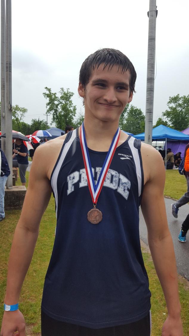 Brandon Wood Wins Bronze at New England Track Championship