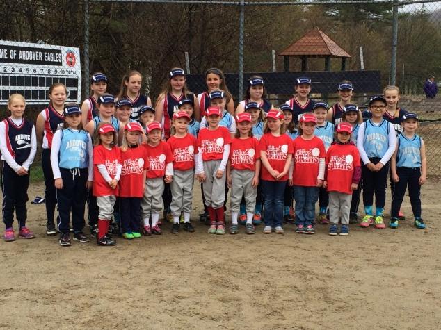Andover Girls Softball Teams, 2016