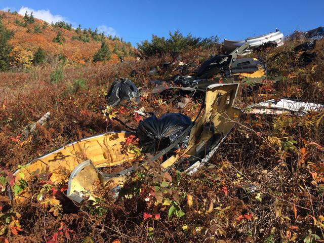 Trash Spoils Hike on Tucker Mountain