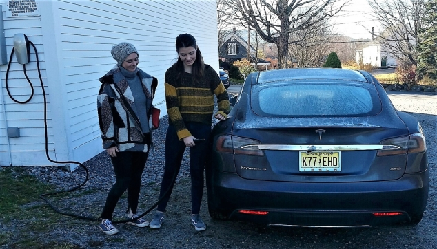 A Tesla Charging Station for Andover