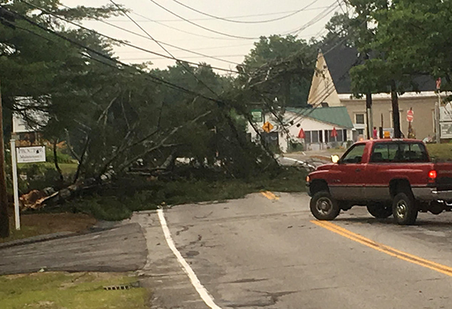 Violent Storms Cause Damage, Power Outages