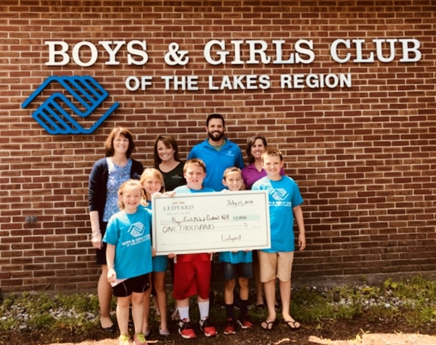 Ledyard National Bank Donates to the Boys and GirlsClubs of Central New Hampshire