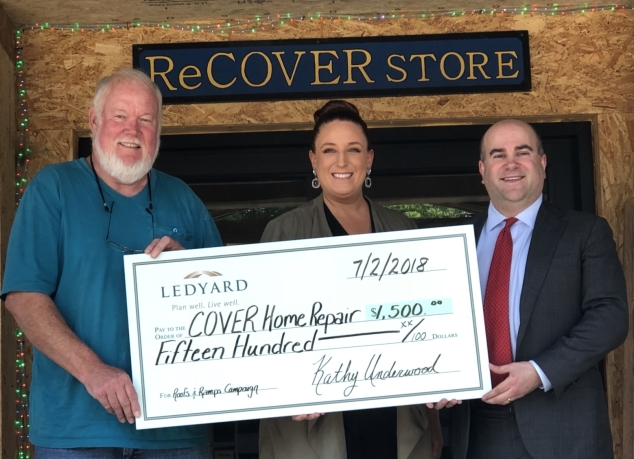 Ledyard Bank Sponsors COVER Home Repair's Fund
