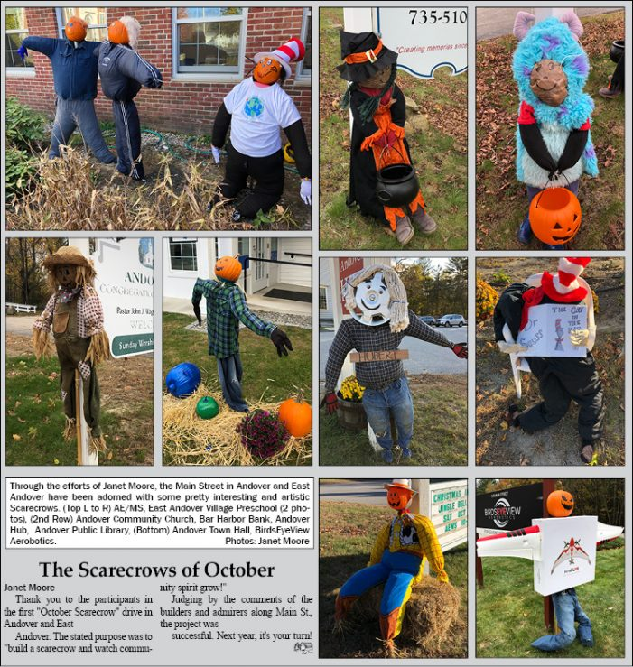 Scarecrows of October in Andover