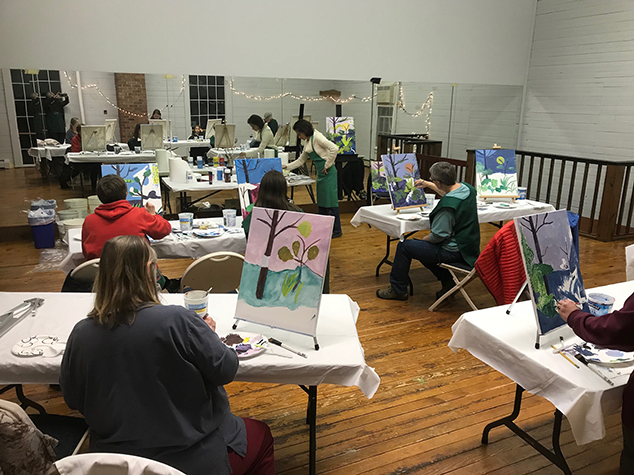 Another Paint & Sip Offered at the Andover Hub