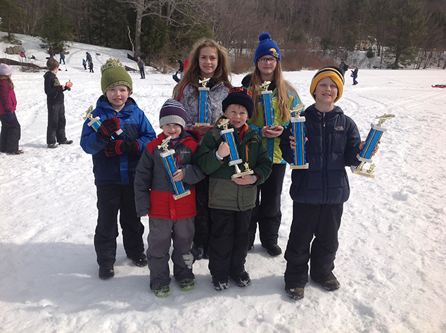 Winners of Andover Fish & Game Club's Kids' Ice Fishing Derby