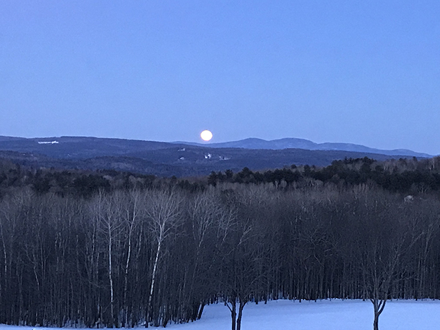 Winter Moon from Blueberry Acres Farm in East Andover