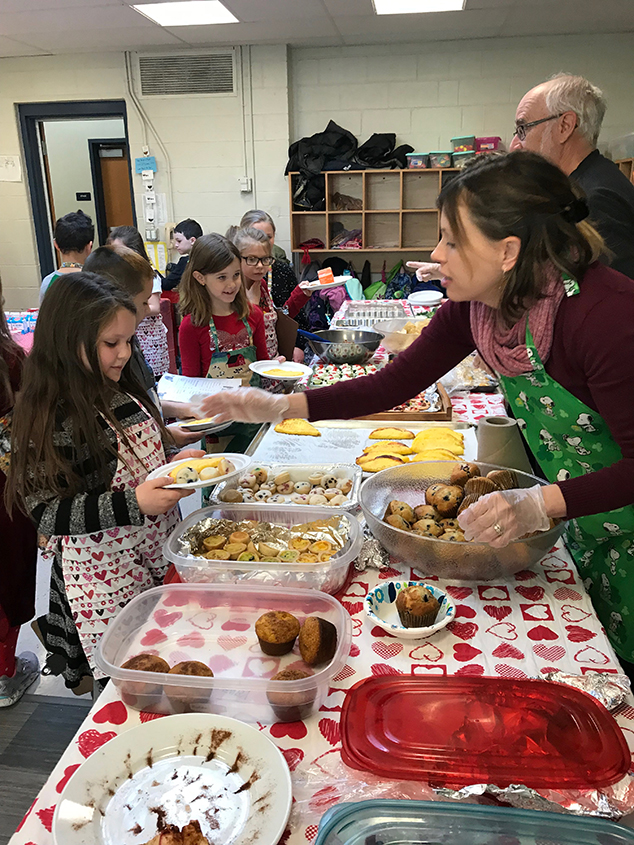 AE/MS Second Grade Annual Heart Healthy Valentine Restaurant Held