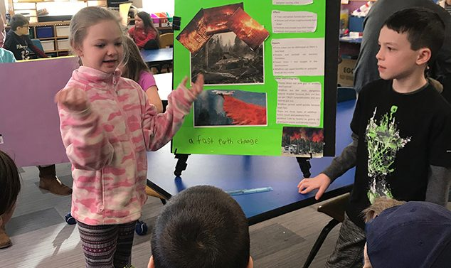 AE/MS Second Graders Learn About 'Earth Changes'