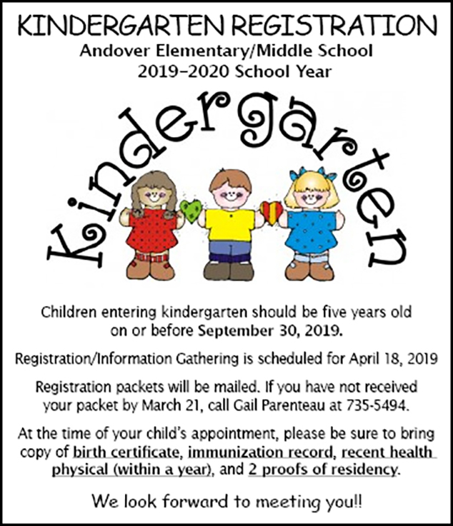 AE/MS Kindergarten Registration