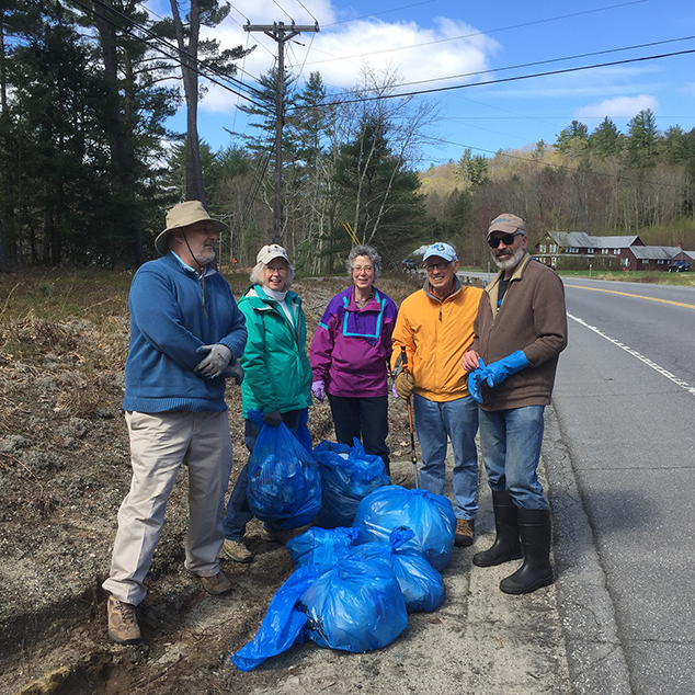 Andover Area Democrats Participate in Town Clean-Up