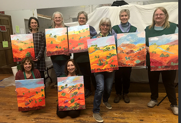 Another Successful Paint and Sip at The Andover Community Hub