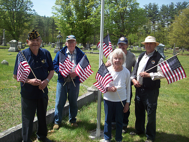 American Legion Places Flags in Town Cemeteries