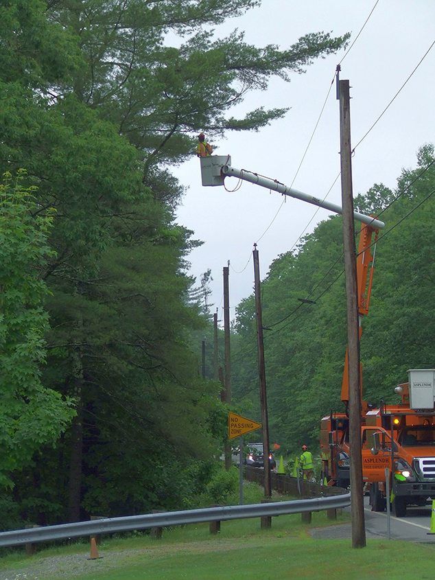 Tree Trimming along Route 11 in East Andover