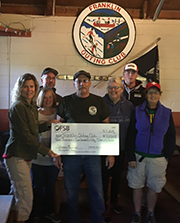 Franklin Outing Club Receives $4,250 Donation from Franklin Savings Bank