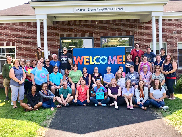 AEMS Staff Welcomes Students and New Families