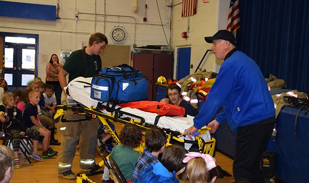 Andover Fire Department Stages Simulated Emergency at AE/MS
