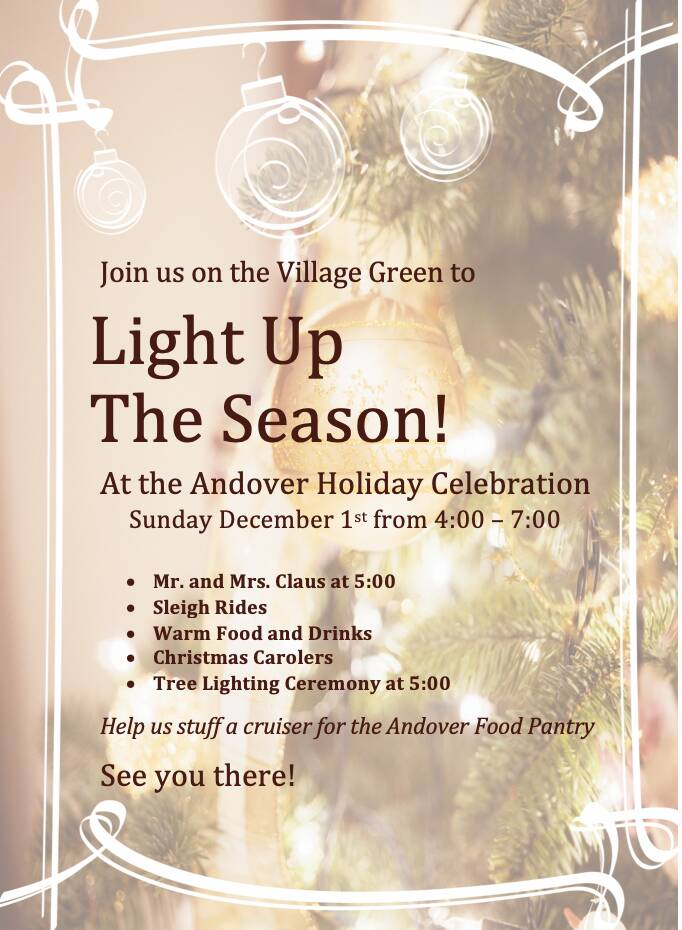 Tree Lighting and Holiday Celebration on the Village Green