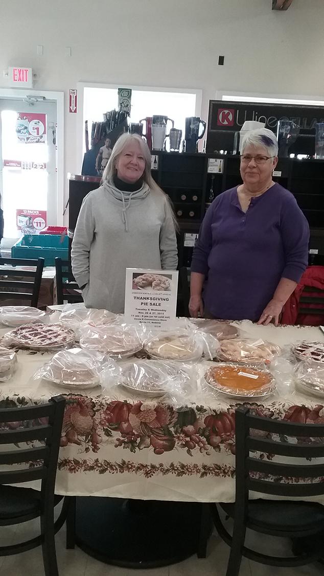 Andover Service Club's Pie Sale A Sweet Success