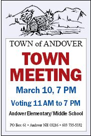 Town Voting, Town Meeting on March 10, 2020