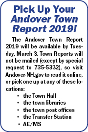 Pick Up Your Andover Town Report 2019