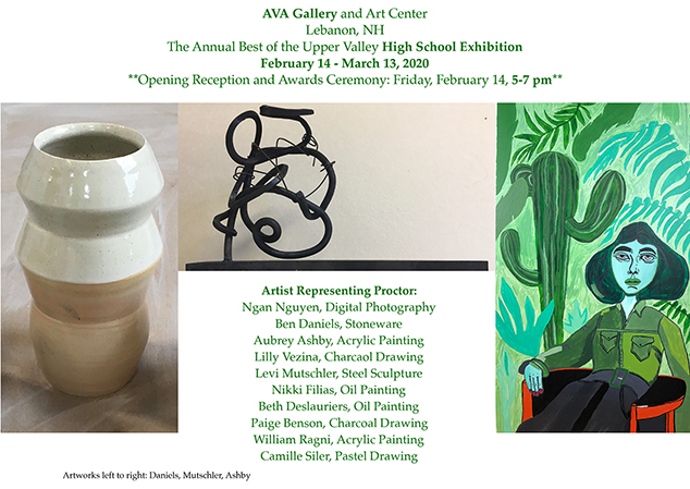 Proctor Students' Artwork Exhibited at AVA Gallery