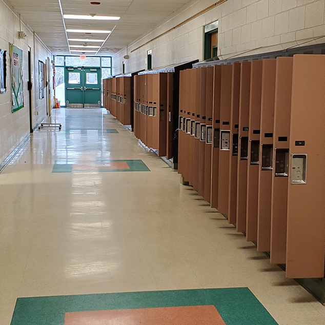 The Middle School Hallway Waits for Students' Return