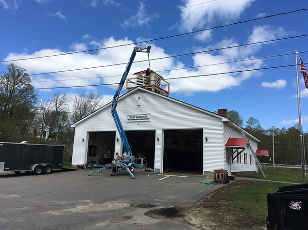 Forty Year Old East Andover Fire Station Cupola Gets Rebuild