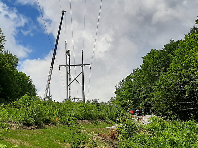 Contractors Engage in Ongoing Transmission Line Work for Eversource