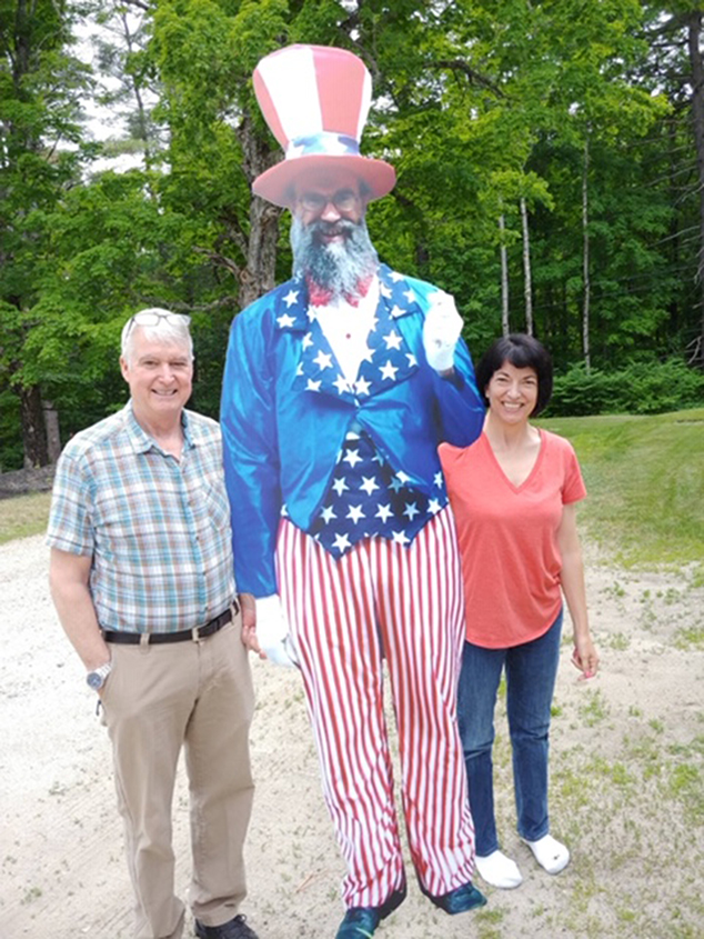 Doug and Alita Phelps Get Their Picture Taken With Uncle Sam